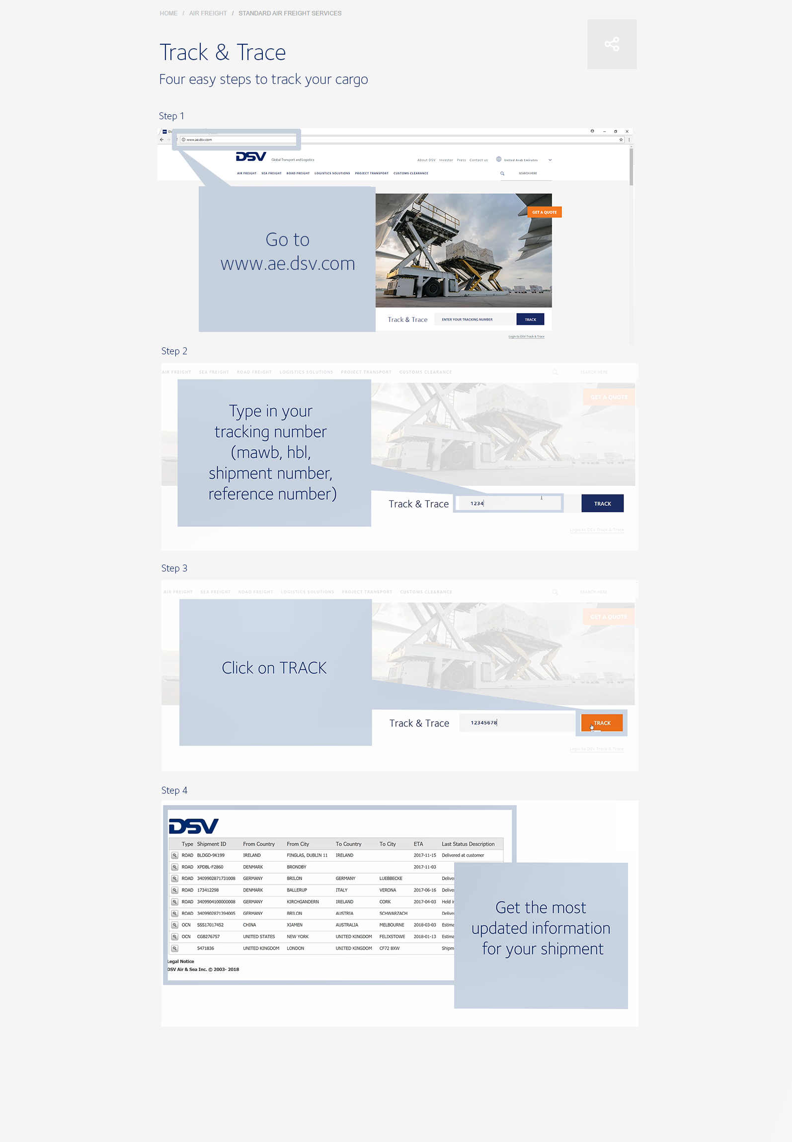 Learn to track and trace | DSV