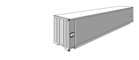 High cube dry container dimensions