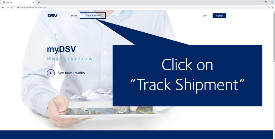 myDSV tracking