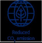 reduced CO2 emission