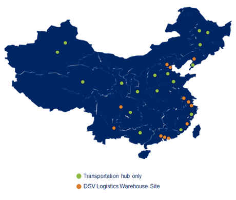 China Warehouse Locations