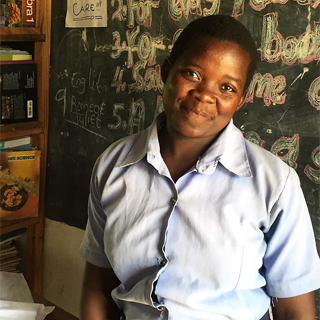 DSV supports a project through which Judith can continue to go to school