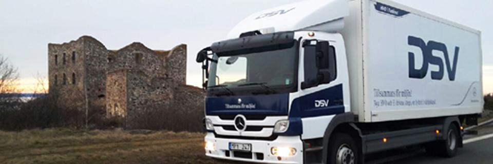 DSV Hybrid truck in Sweden