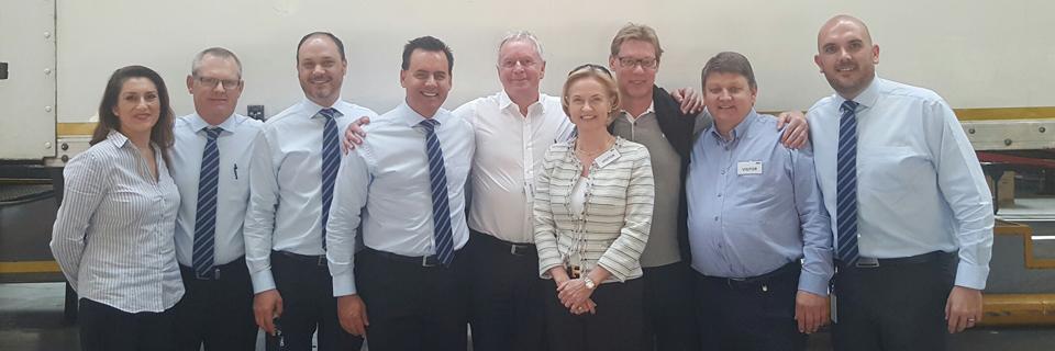 DSV board in Cape Town ZA with local distribution team
