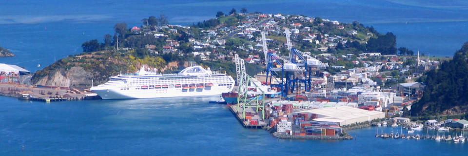 Cruise ship at Port Chalmers NZ