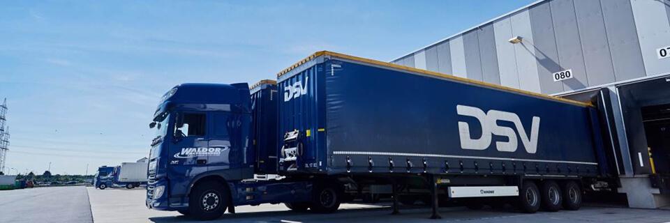 DSV truck docking at warehouse