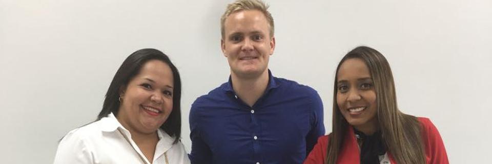DSV Panama team 2018, Joseline Ulloa, Jonas Thoroe, Annette Harris