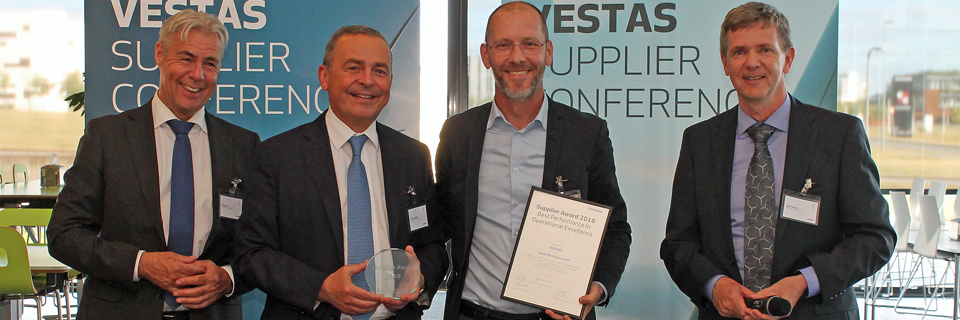 Vestas awards DSV Supplier of the Year for Operational Excellence