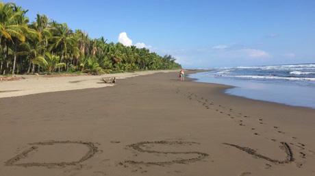 Costa Rica - DSV logo on beach