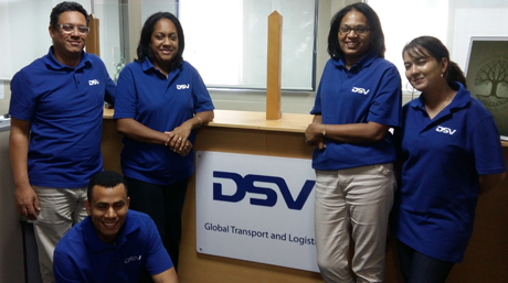 DSV Mauritius office staff