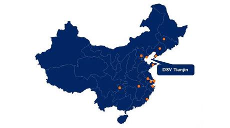 DSV in China map