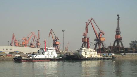 Tugs in Tianjin Port China