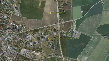 Location of DSV Service Centre in Landskrona