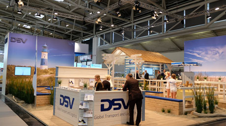 DSV fair stand at Transport logistic 2015