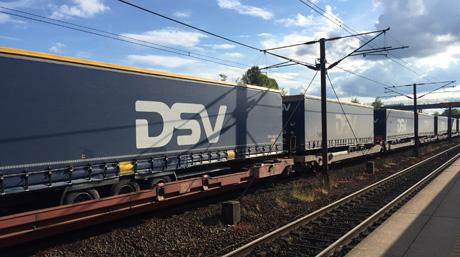 DSV train leaving Taastrup - Denmark