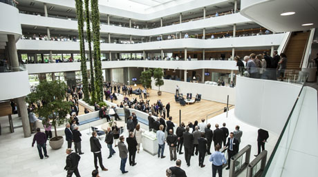 The atrium at DSV global headquarters