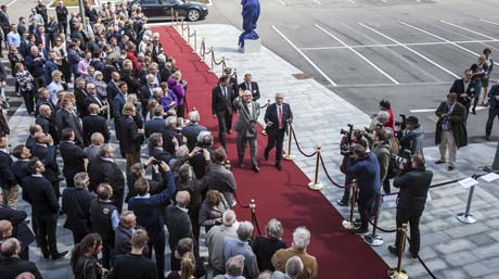 HRH Prince Henrik of Denmark arrives at DSV