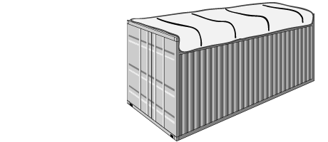 Open top containers with tarpaulin for oversized cargo | DSV