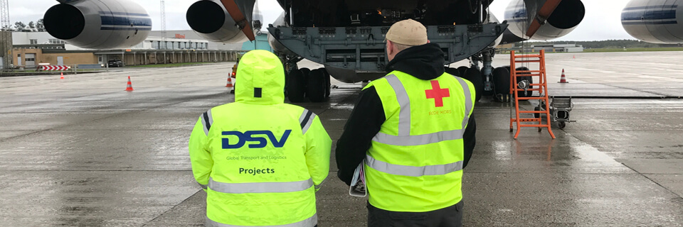 DSV and Red shipment of base camp to USA