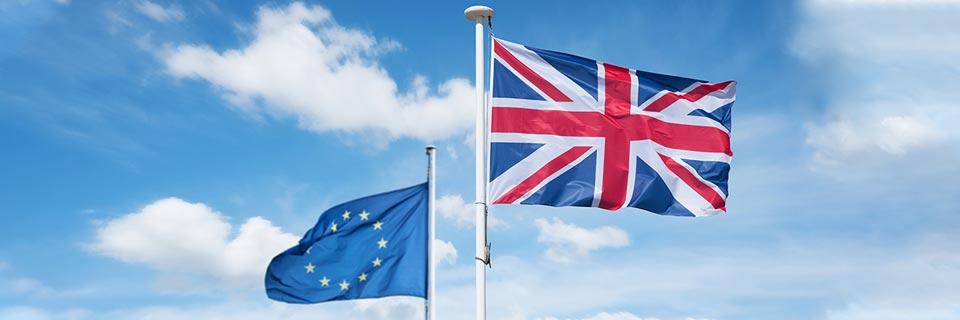 UK EU Brexit Flagge