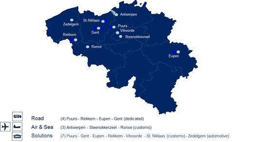 DSV Belgia esindused