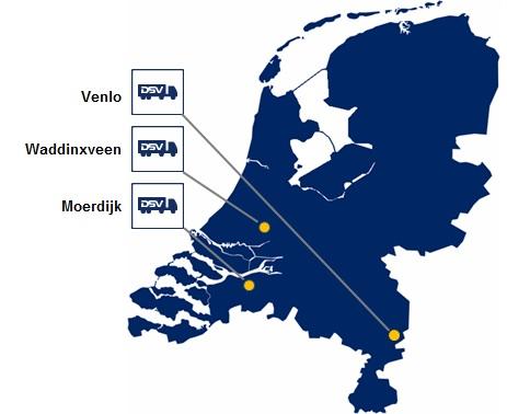 DSV Hollandi esindused