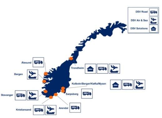 DSV Norra esindused