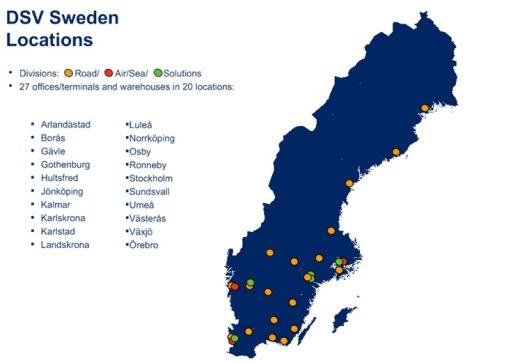 DSV Rootsi esindused