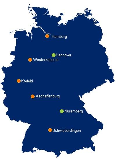 DSV Saksamaa esindused