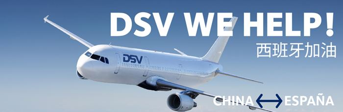 DSV We Help Puente Aéreo China España COVID19