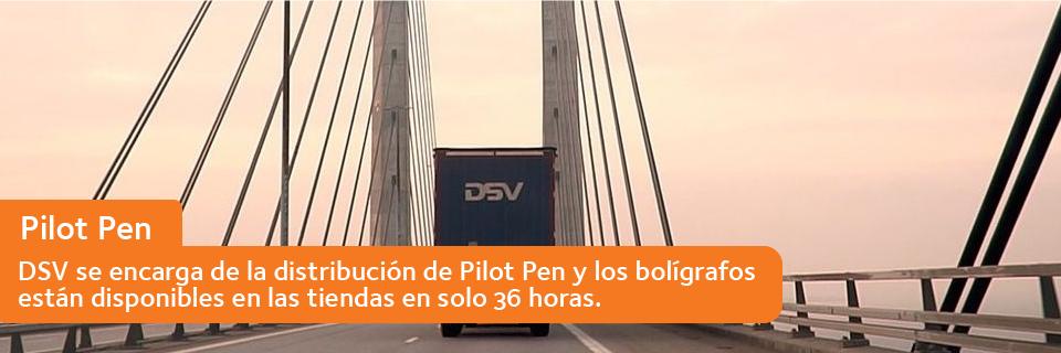 DSV se encarga de la distribución de Pilot Pen y los bolígrafos están disponibles en las tiendas en solo 36 horas