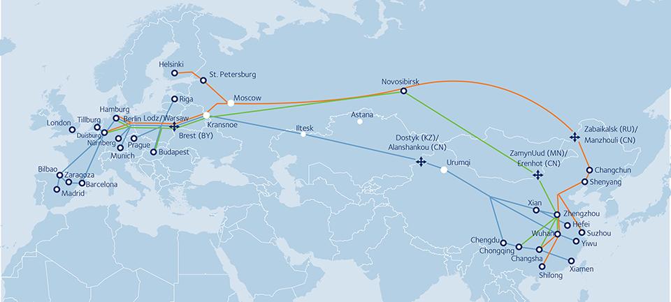 china spain train ferrocarril ruta europa