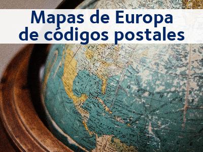 mapas codigos postales europa