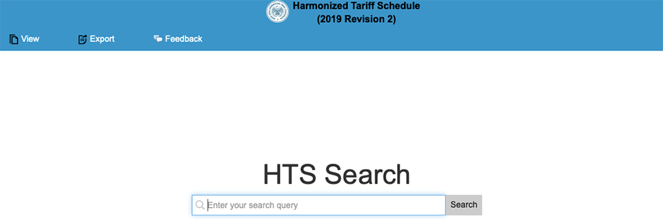 harmonized tariff schedule search arancel comercial