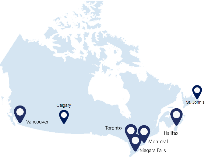 mapa oficinas dsv canada transparent