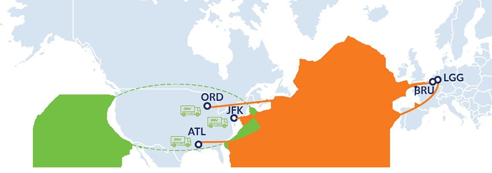 mapa red charter aereo coronavirus belgica usa
