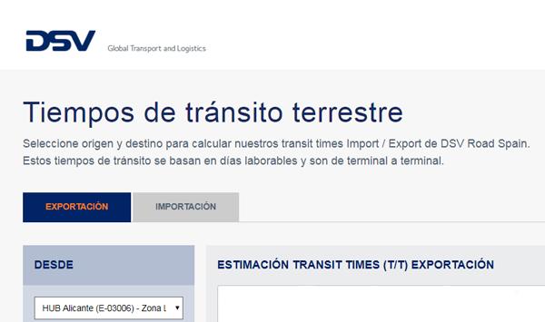 tiempos transito transit times transporte terrestre carretera europa