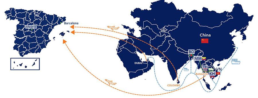 transporte multimodal asia espana spain aereo terrestre maritimo fashion