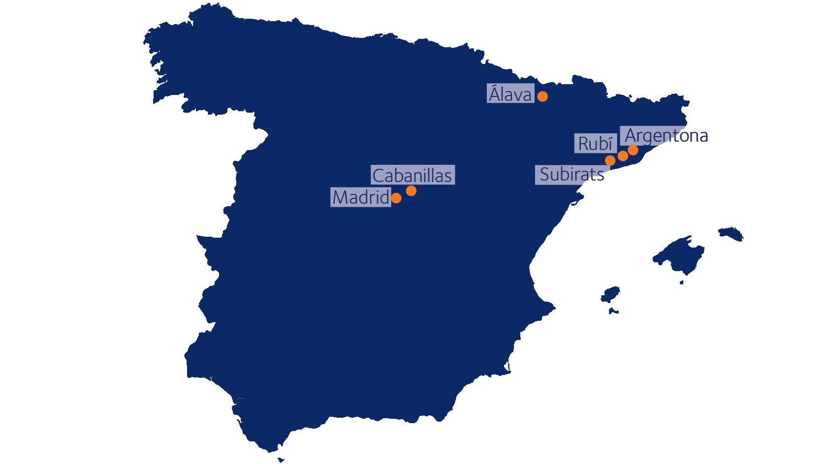 Mapa Solutions Web DSV Cabanillas, Alava, Subirats, Argentona, Madrid y Rubí