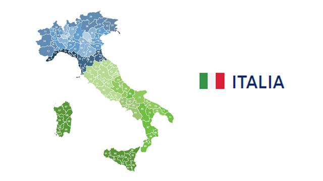 mapa codigos postales italia