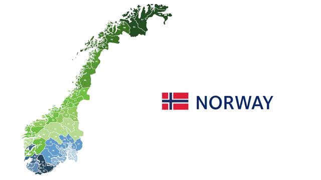 mapa codigos postales noruega