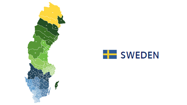 mapa codigos postales suecia