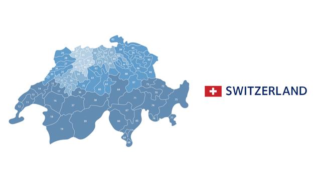 mapa codigos postales suiza