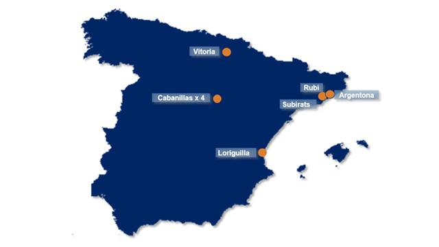 mapa nave almacen dsv solutions spain espana spain