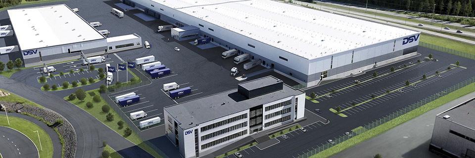 DSV Logistics Center -havainnekuva