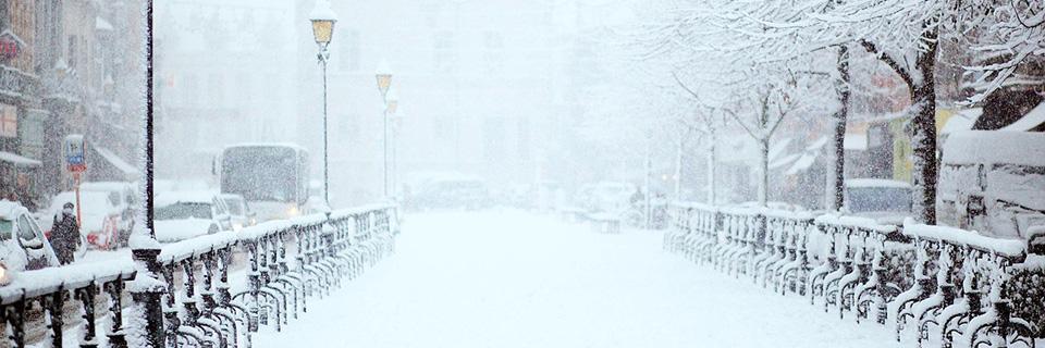Lumisadetta Pariisissa