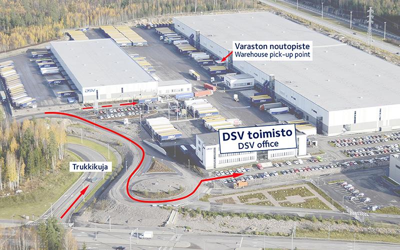DSV Trukkikuja Vantaa