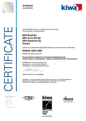 OHSAS 18001-2015 -sertifikaatti - pieni