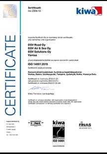 ISO 14001-2015 -ympäristösertifikaatti - pieni