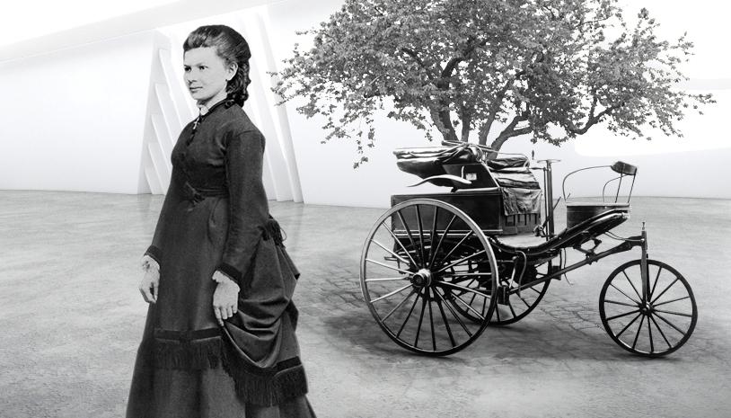 Bertha Benz: Primera mujer conductora de un automóvil